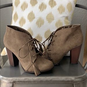 Adorable suede booties!